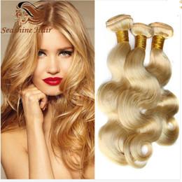 color 613 platinum blonde virgin hair extensions 4pcs,cheap 613 blonde body wave weave 4 bundles,100% unprocessed virgin Brazilian human hai