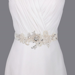 S74 Free shipping Arrival embroidered bridal sash belt Fabric Bride Sash Handmade Wedding Belts Exquisite Jewelry