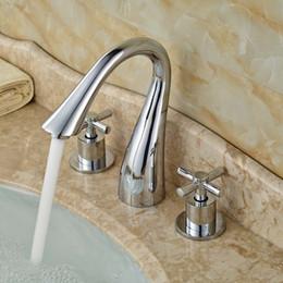 Unique Design Cross Head Handle Bath House Basin Water Faucet Ceramic Valve Polished Chrome Lavatory Mixer Taps