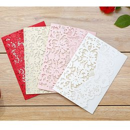 nvitations European Style Laser Creative Lovely Hollow Out Wedding Cards Personalized Custom Sweet Lace Features Process Wedding Products