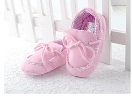 Wholesale Fashion designer baby casual shoes girls cotton board shoes toddler infant first walker shoes prewalker shoes in Factory Price BEST