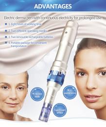 Wholesale Micro Needing Derma Pen Automatic Metal Body Dr pen With Batteries Wireless Dermapen Rechargeable Derma pen For Sale