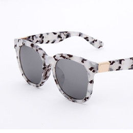 Wholesale Authentic designer Ken Block Sunglasses Women Square Metal Crystal Decoration Men Coating Sunglasses Oculos De Sol Faminino