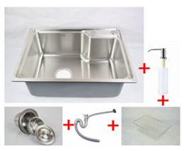 Wholesale 304 stainless steel kitchen sink forming one thick brushed slot package vegetables basin sink