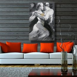 Wholesale Handmade Modern Decorative The Pair Dance Oil Painting On Canvas Wall Art For Living Room As Unique Gift