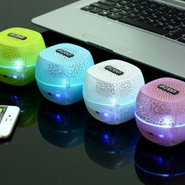 Newest Mini LED Light Bluetooth Speakers Wireless Stereo Portable Loud Speakers with Power Bank for Mobile Phone PC