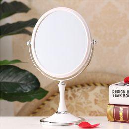 Wholesale Professional makeup mirror Inch compact cosmetic mirror lady s Double Sided table dresser desktop espelho bath mirror