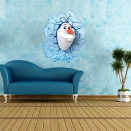 Wholesale 30pcs Congelado oalf Princesa de vinilos Removibles de dibujos animados Pegatinas de Pared Congelada Película Pegatinas de la Habitación de los Niños de la Guardería Decoración de la Pared de PVC de x70cm