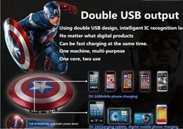 Wholesale 1PCS In the new captain America mobile power supply The avengers alliance phone general charging treasure mAh