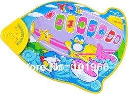 4PCS mayor-Venta al por mayor / Lote 59 * 49cm Avión Estilo Musical Bebé Juega Mat bebé del Desarrollo Crawl Mat bebé GYM Mat para el ruso bebé desde aeroplano juego proveedores