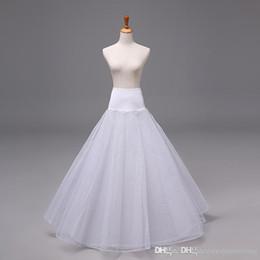 Wholesale New Arrivals Bridal Wedding Dress A line Petticoat Underskirt Crinoline Skirt Slip Tulle Nylon Bridal Accessories Petticoats