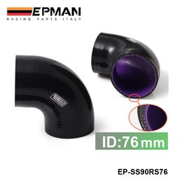 Wholesale EPMAN Universal quot Ply Degree Elbow Silicone Hose Coupler MM Turbo Intake EP SS90RS76
