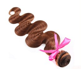 Factory Wholesale 6A Virgin Human Hair body Wave Brazilian Hair Bundles Peruvian Malaysian Indian Hair 6# light brown 100g pcs 3pc lot