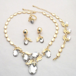 Wholesale 18K Yellow Gold Plated Wedding bridal African Jewelry Sets Factory Price