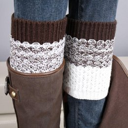 New Christmas Women Ladies Crochet Knitted Boot Cuffs Toppers Knit Leg Warmers Winter Short Liner Boot Socks