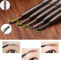 Wholesale New Arrivals Women s Girl s Waterproof Eye Brow Eyeliner Eyebrow Pencil With Brush Makeup Beauty Tool TX324