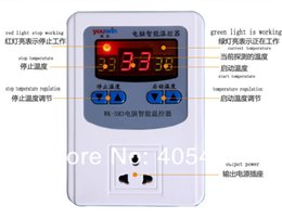 Wholesale 2013 computer intelligent thermostat adjustable heating temperature controller automatic temperature control switch socket order lt no tra