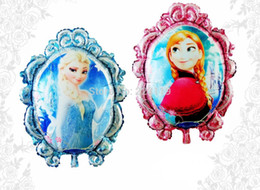 Wholesale Helium Balloon Anna and Elsa Party Foil Balloons Inflatable Classic Toys Best Gift For Girls cm