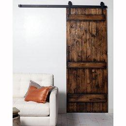 Wholesale Black Arrow Antique Barn Wood Steel Sliding Single Door Hardware FT
