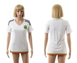 Wholesale 2015 Womens Mexico Away White Soccer Jersey Best Thai Quality Football Jerseys brand new with logo tags able custom name number