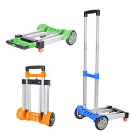 Wholesale Hot Multifunctional Folding Retractable Shopping Trolley Portable Hand Trolley Carts Aluminum Travelling Lage Trailer JO0002 Salebags
