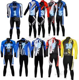 Wholesale-GIANT Long cycling jersey long sleeves bib long pants  Kits bicicletas roupa ciclismo mountain bike men riding wear