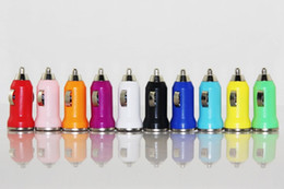 Micro USB Car Charger Colorful Bullet Universal Adapter For iPhone For Cell Phone For Mp345 100pcs up