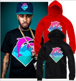 Wholesale Cheap Pink Hoodie - Free shipping hiphop hoodie hip hop brand pink dolphin Sweatshirts cheap pink dolphin hoodies clothing pullover 9 colors