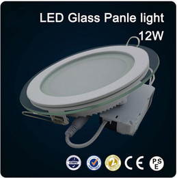 2016 LED glass round 12W Panel Recessed Wall Ceiling Downlight AC85-265V high bright SMD5730 LED indoor light