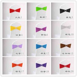 Wholesale 100 Spandex Lycra Chair Sashes Elastic Satin Chair Bands with Buckle for Wedding Party Chair Cover Sashes Bows Cheap New Mk006
