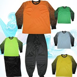 2015 new Goalkeepers good quality clothing pants suit men and long-sleeved clothes cushion goalkeeper into the goal for 5 colors