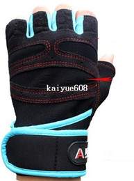 New 2014 Gym Training Fitness Gloves Wrist Support Sports Weight Lifting fingerless Gloves Exercise Cycling For Men Women GYD163