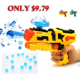 Wholesale PAINTBALL INFRARED PISTOL SOFT BULLET GUN PLASTIC BOY TOYS CS GAME WATER CRYSTAL GUN MINI NERF AIR SOFT HANDGUN MILITARY MODEL