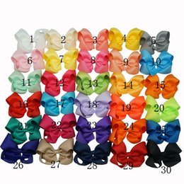 Fille accessoires pour cheveux clips en Ligne-Cheveux Summer Style Bows Big ruban gros-grain Bow cheveux Avec clip filles Jumbo Bows bébé Accessoires cheveux 30 couleurs en stock Livraison gratuite DHL 4