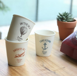 Wholesale New zakka sea anchor balloon aircraft simulation paper Ceramic water cups mugs Best gifts Home decoration