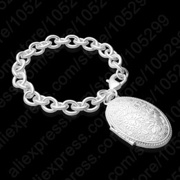 Hot Sale Romantic 925 Sterling Silver Pendant Photo Box Bracelets Bangles Women Gift Jewelrys Wholesale