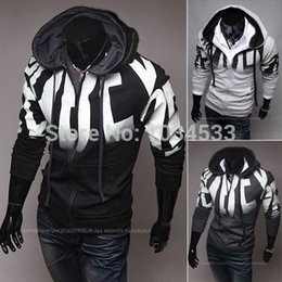 2015 Casual Men Zip Up Hoodie Hooded Jacket Sweatshirt Sport Coat Clothes Cardigan