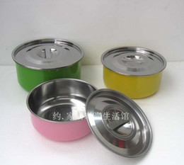 Wholesale-Stainless steel piece set opsoning pot colorful spices pot multi-purpose pot gift cookware cooking pots and pans set