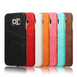 Wholesale Hot PU bevel edge for card Case For samsung galaxy s6 cell phone cases