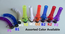Wholesale Sealed acrylic Mask bong Curved and straight tube bong White Purple Red Blue Yellow color avaiable Fits Standard Masks Also Sell Masks