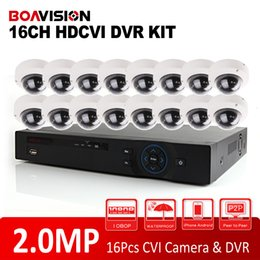 Wholesale Security Cameras Vandal Proof Dome - 2015 New HDCVI System HD 2.0MP IR 10m Outdoor Dome CVI Camera 1080P Vandal-proof Surveillance Security CCTV System 16 Channel DVR Kit