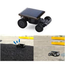 Lovely Mini Solar Power Toy Car Racer The World's Smallest Educational Gadget Children Gift E5M1