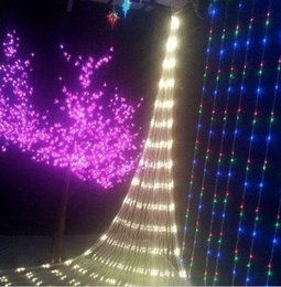 Rgb led net en Ligne-3m * 3m 400LED net allume chaînes de réseau maillé jeux de lumières de fées lumière mariage fête de noël avec le contrôleur 8 de fonction US.AU.UK UE Plug