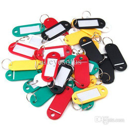 Wholesale-30Pcs Plastic Keychain Key Tags ID Label