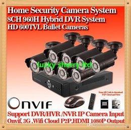 CIA- 8CH HDMI Network DVR 8PCS 600TVL IR Outdoor Weatherproof CCTV Camera 24 LEDs Home Security System Surveillance Kits No HDD