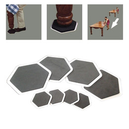 Wholesale Useful sexangular furniture pad small sliders larger slider PP and EVA set