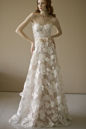 Wholesale 2016 Lace Wedding Dress Custom Plus Size Mira Zwillinger Wedding Dresses Strapless Bow Sash Wedding Gowns Drop Waist Adjustable