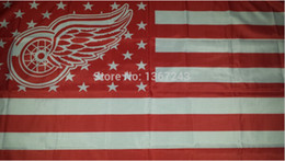 Detroit Red Wings NHL National Hockey League USA Flag 3X5 ft custom Banner 90x150cm Sport Outdoor HDR4