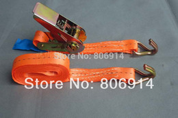Wholesale kg M high strength double hook travel transport ratchet tie down cargo lashing strap