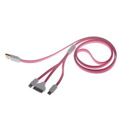 Wholesale 4 in USB Charging Data Cable for Samsung HTC iPhone S iPhone5 S Suit For All Kinds of Mobile Phones Four Colors